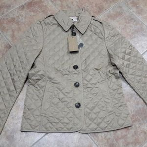 BURBERRY BRIT WOMEN ASHURST QUILTED JACKETS CANVAS